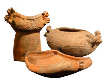 Three imported pots